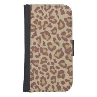 Impresión del guepardo del leopardo fundas tipo billetera para galaxy s4
