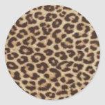 Impresión del guepardo etiquetas redondas