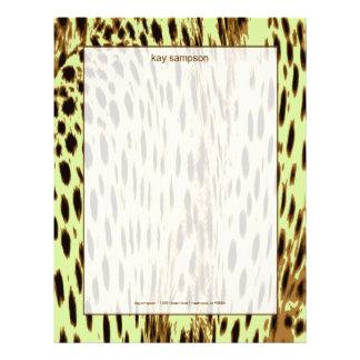 Impresión del guepardo, fondo del cellery membretes personalizados