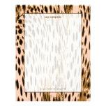 Impresión del guepardo, fondo rosado membrete personalizado