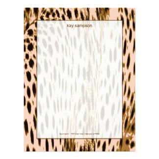 Impresión del guepardo, fondo rosado plantillas de membrete