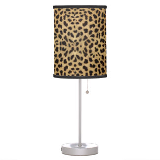 Impresión del guepardo lámpara de mesa