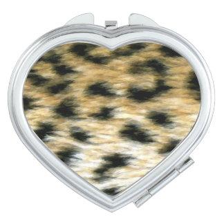 Impresión del guepardo espejos de viaje