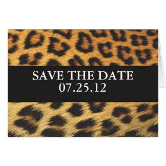 Impresión del guepardo tarjeta de felicitación