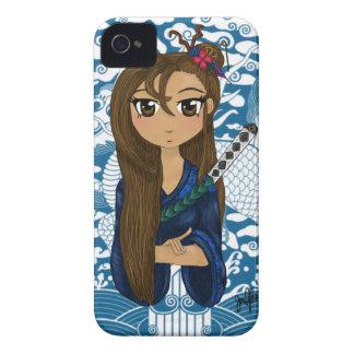 Impresión del guerrero del geisha iPhone 4 cárcasa