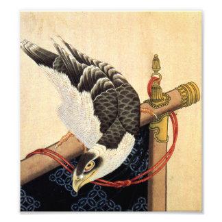 Impresión del halcón de Hokusai Impresiones Fotográficas