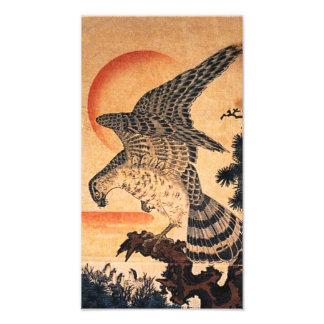 Impresión del halcón de Kuniyoshi Fotografia