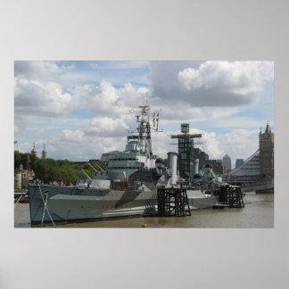 Impresión del HMS Belfast Póster