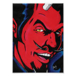 Impresión del hombre del diablo poster
