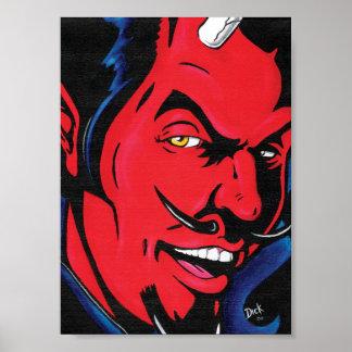 Impresión del hombre del diablo póster