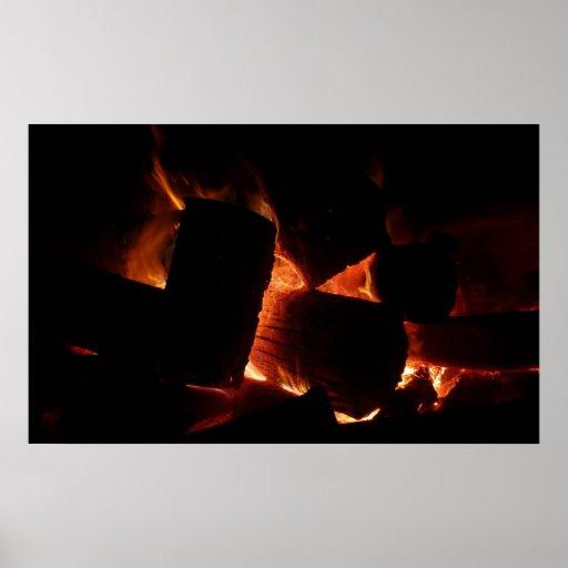 Impresión del hoyo del fuego impresiones
