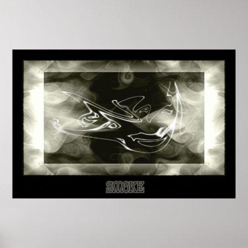 """Impresión del """"humo"""" - poster"""