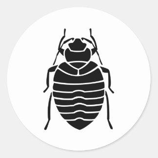 Impresión del insecto del chinche pegatina redonda