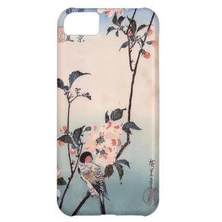 Impresión del japonés de la flor de cerezo del pin funda para iPhone 5C