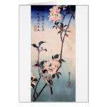 Impresión del japonés de la flor de cerezo del pin tarjeton