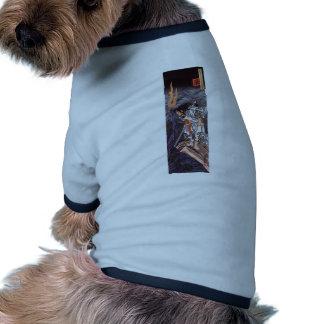 Impresión del japonés del vintage del dragón del s camisas de perritos