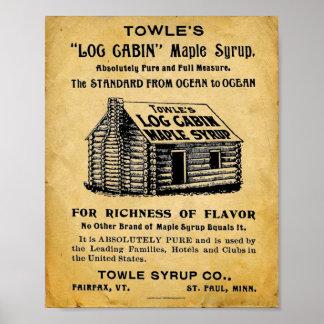 Impresión del jarabe de arce de Towles del vintage