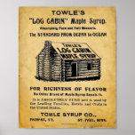 Impresión del jarabe de arce de Towles del vintage Posters