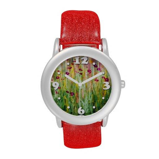 Impresión del jardín reloj de mano