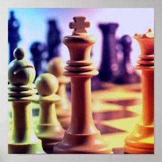 Impresión del juego de ajedrez poster