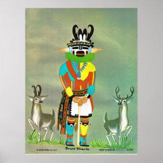 "Impresión del kachina del ""antílope"" poster"