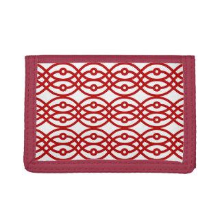 Impresión del kimono, blanco y rojo oscuro