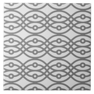 Impresión del kimono, gris de plata con gris teja  ceramica