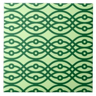 Impresión del kimono, ligero y verde oscuro tejas  cerámicas