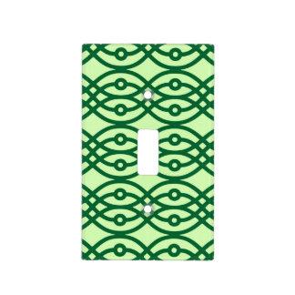 Impresión del kimono, ligero y verde oscuro placa para interruptor