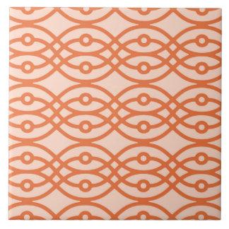 Impresión del kimono, naranja coralino teja