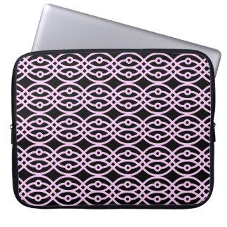 Impresión del kimono, negro y rosa del hielo mangas portátiles