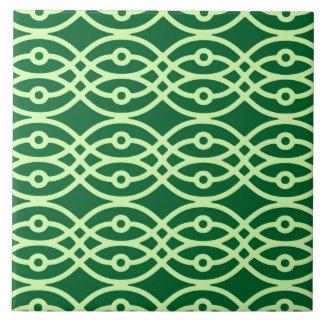 Impresión del kimono, oscuro y verde claro azulejos ceramicos