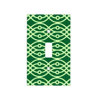 Impresión del kimono, oscuro y verde claro cubiertas para interruptor