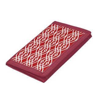 Impresión del kimono, rojo oscuro y blanco