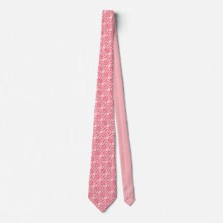 Impresión del kimono, rosa del coral corbatas personalizadas