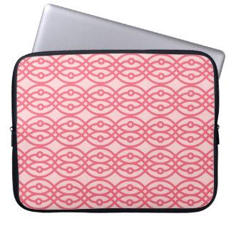 Impresión del kimono, rosa del coral funda ordendadores