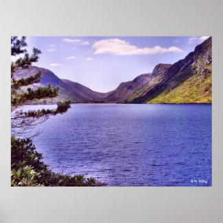 Impresión del lago mountain de Glenveagh Impresiones