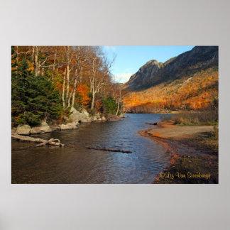 Impresión del lago profile, New Hampshire Póster