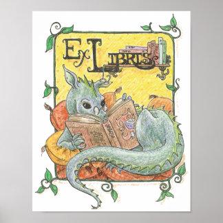 Impresión del lector del dragón póster