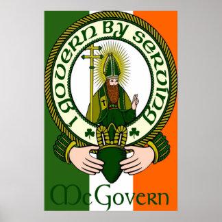 Impresión del lema del clan de McGovern Posters