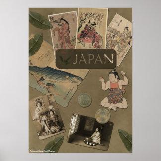 """Impresión del libro de recuerdos de """"Japón"""" del vi Póster"""