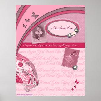 Impresión del libro de recuerdos del azúcar y de l póster