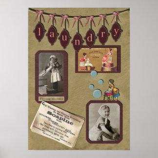 Impresión del libro de recuerdos del lavadero del  póster
