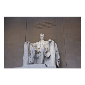 Impresión del Lincoln memorial Póster
