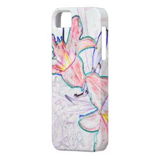 impresión del lirio iPhone 5 carcasas