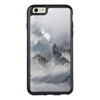 Impresión del lobo de la nieve funda otterbox para iPhone 6/6s plus