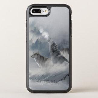 Impresión del lobo de la nieve funda OtterBox symmetry para iPhone 7 plus