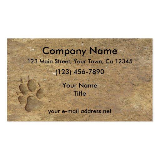 Impresión del lobo, plantilla de tarjeta personal