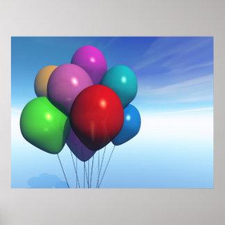 Impresión del manojo de los globos del fiesta impresiones