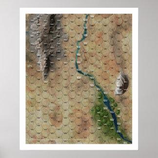 """Impresión del mapa del maleficio de """"Riverbend"""" Impresiones"""